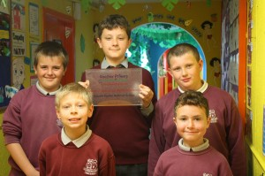 Representatives from 2nd, 3rd, 4th, 5th and 6th Class with the award.