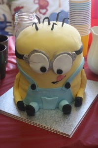 Our magnificent Minion cake!