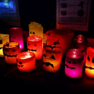 Our very spooky Pumpkin jars!
