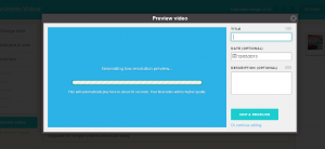 preview screen animoto