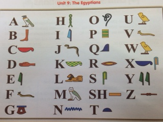 Hieroglyphic writing in third class st peters primary bray blog and see what your name would have looked like in egyptians times also check out the cool pyramid made by cathal adam and james using jenga blocks expocarfo