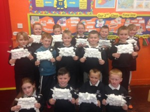 Do you like our sheep that we made for the altar in the church?