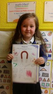 We coloured in the objects that are attracted to a magnet.