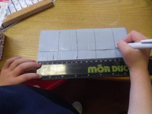 Kyra made sure it was a fair test. She measured the blu tack using a ruler to make sure everyone had an equal amount.
