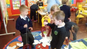 We had lots of fun fishing with magnets!